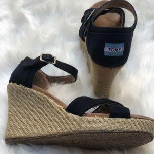 Toms Shoes - Toms women's espadrille wedge sandals shoes 9.5